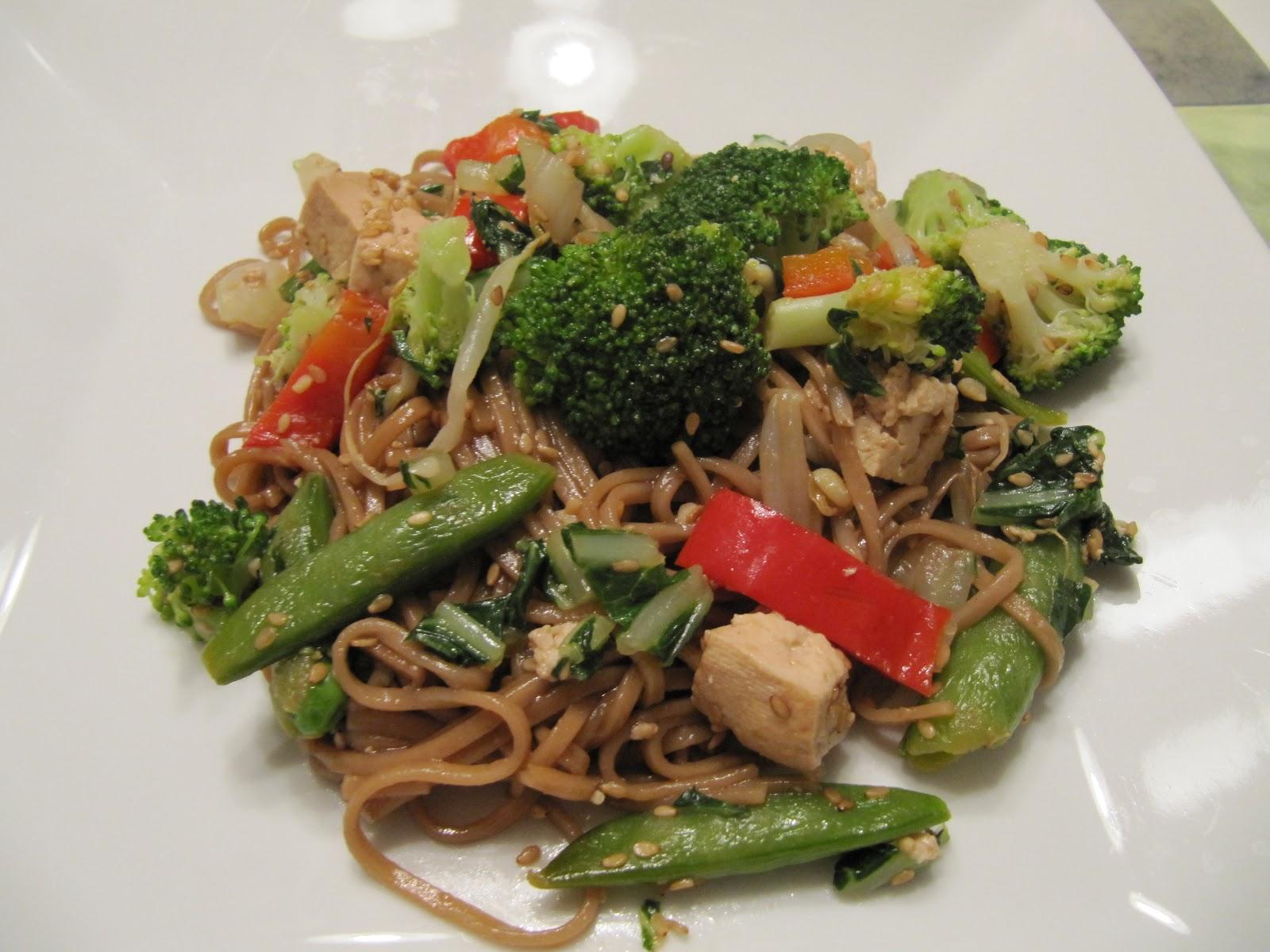 Cookin' in Anne's Kitchen: Tofu, Sobe, and Veggie Stir-Fry