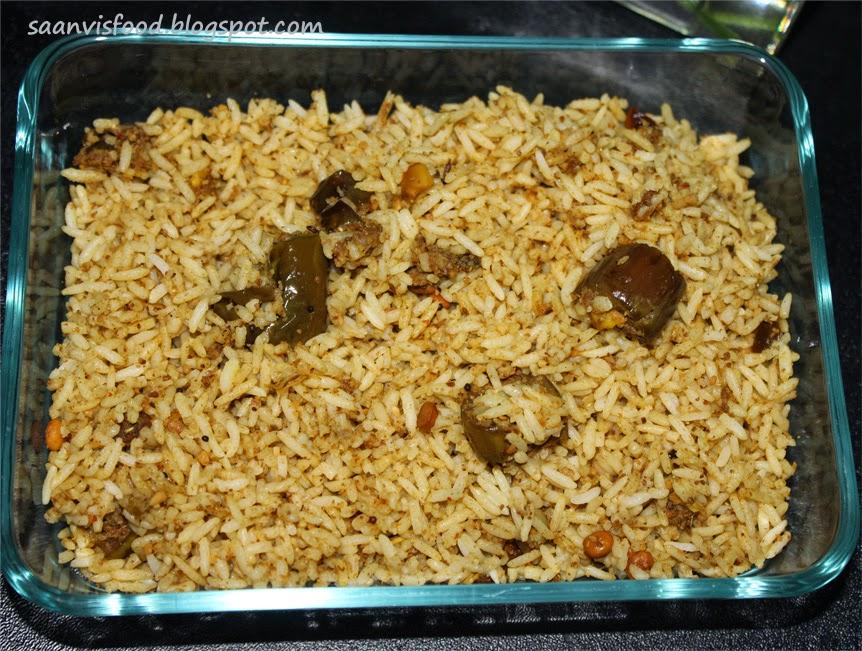 Vangi Bath ( Egg Plant Rice)