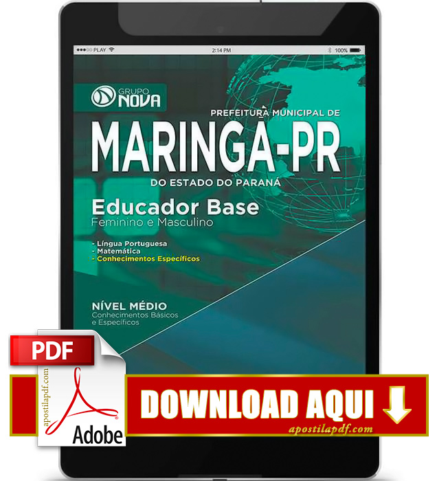 Apostila Maringá 2015 PDF Download Educador Base