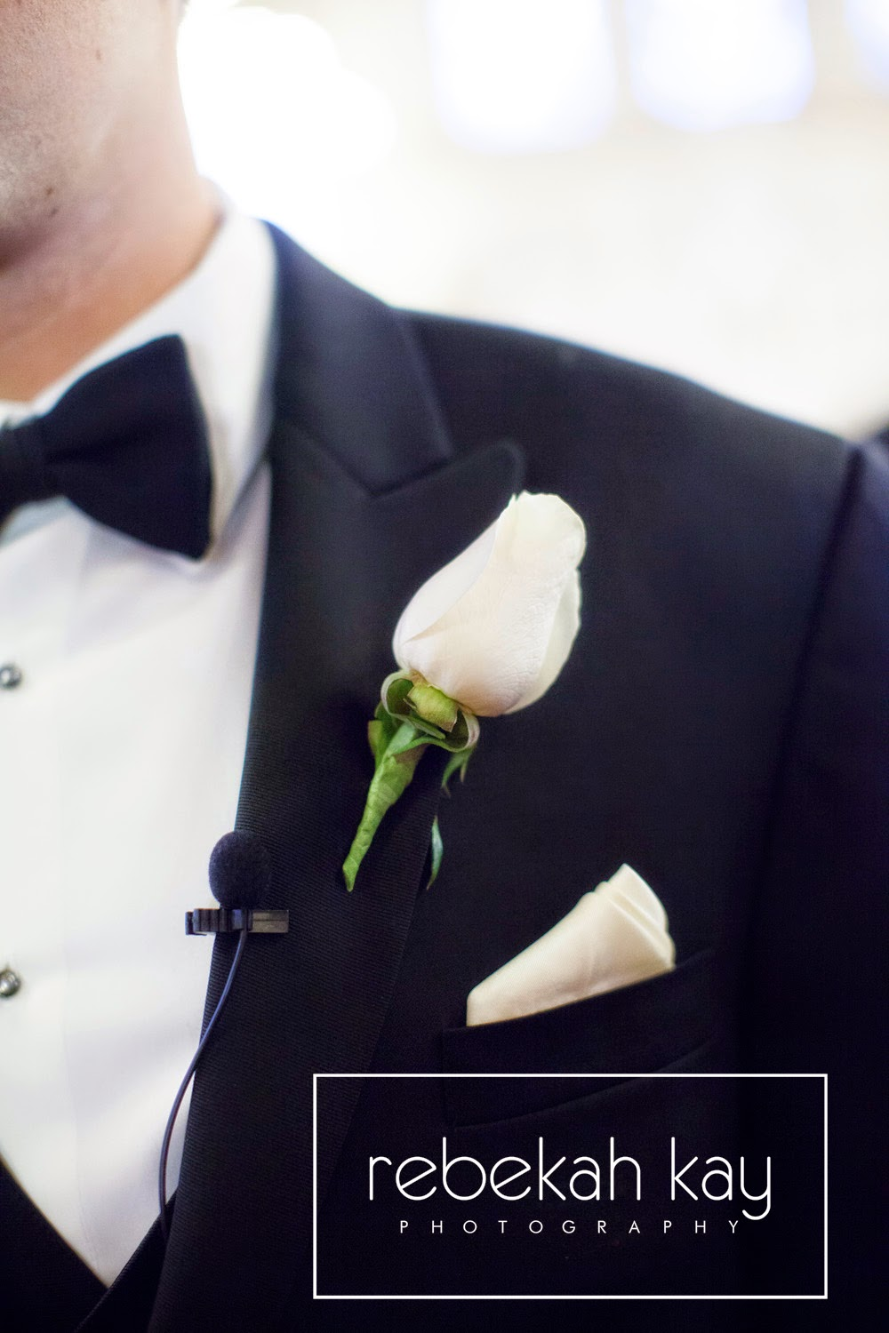 rebekah kay photography : les fleurs : fall wedding : white rose boutonniere