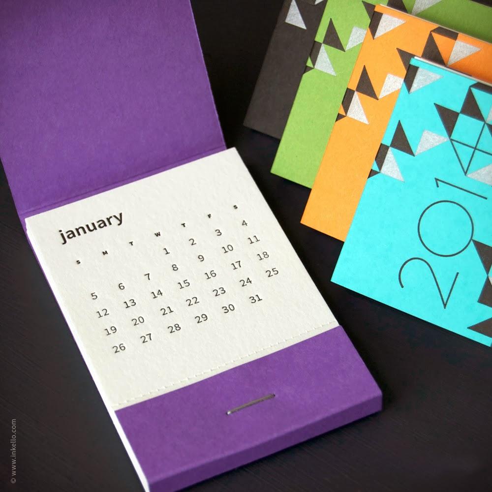 Calendar Typography Examples : Design context calendar design