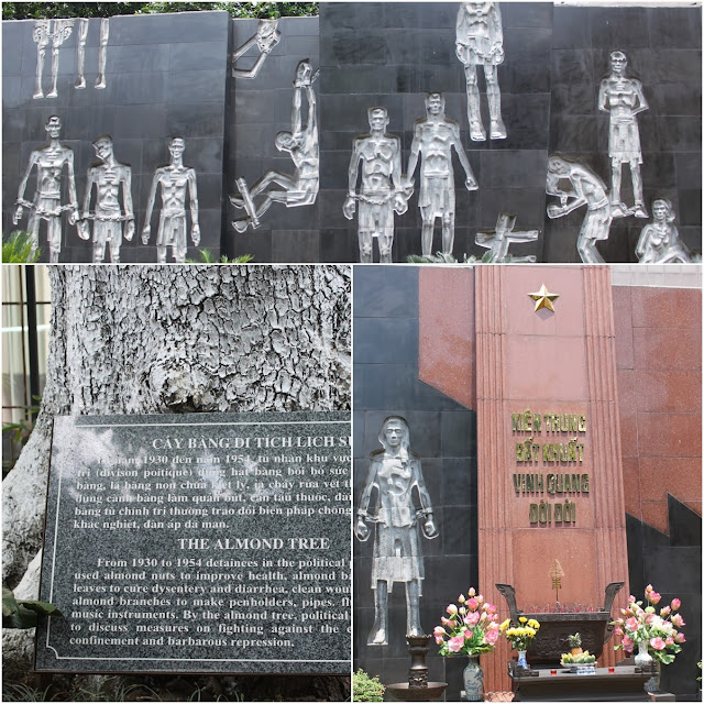 Memorial monument area of Vietnamese patriots and revolutionary fighters and the Almond Tree at Maison Centre (Hoa Lu Prison) in Hanoi, Vietnam