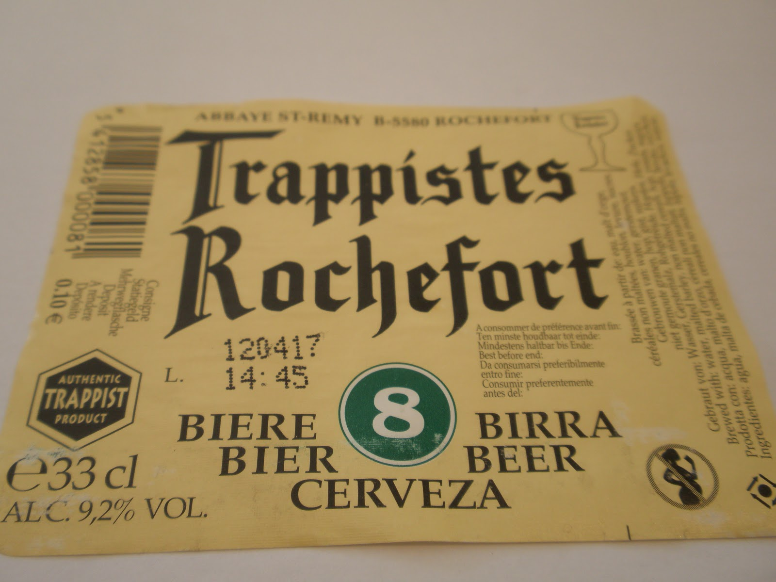 TRAPPISTES ROCHEFORT 8 | BEER DISASTER