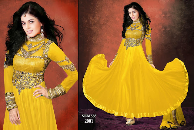 Latest Designer Floor Touch Anarkali Suit