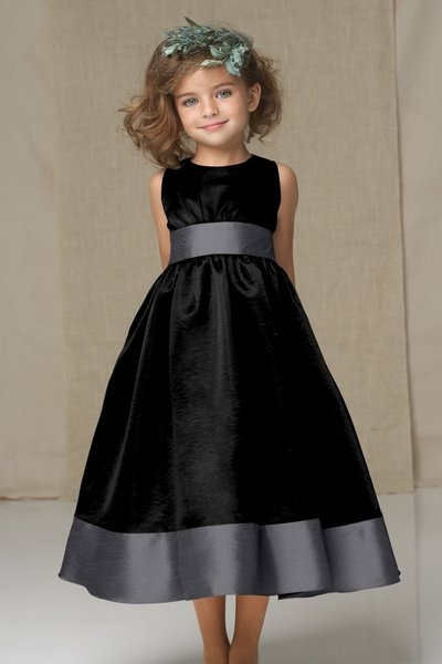 black junior bridesmaid dress