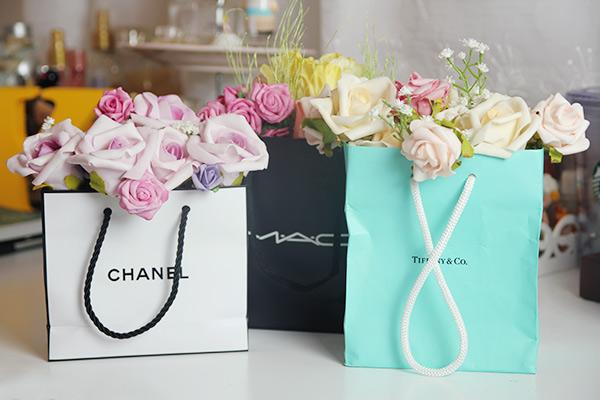 ♥ Decoração: Sacola de Flores ♥