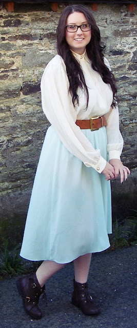 vintage, teadress, retro, 70s, dress, fashion, blogger, fbloggers