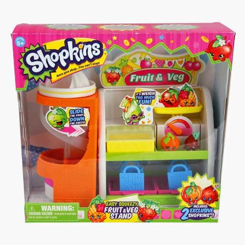 JUGUETES - SHOPKINS   Frutas y verduras | Puesto - Tienda - Stand | Fruit & Veg  Producto Oficial | Giochi Preziosi 56006 | A partir de 5 años