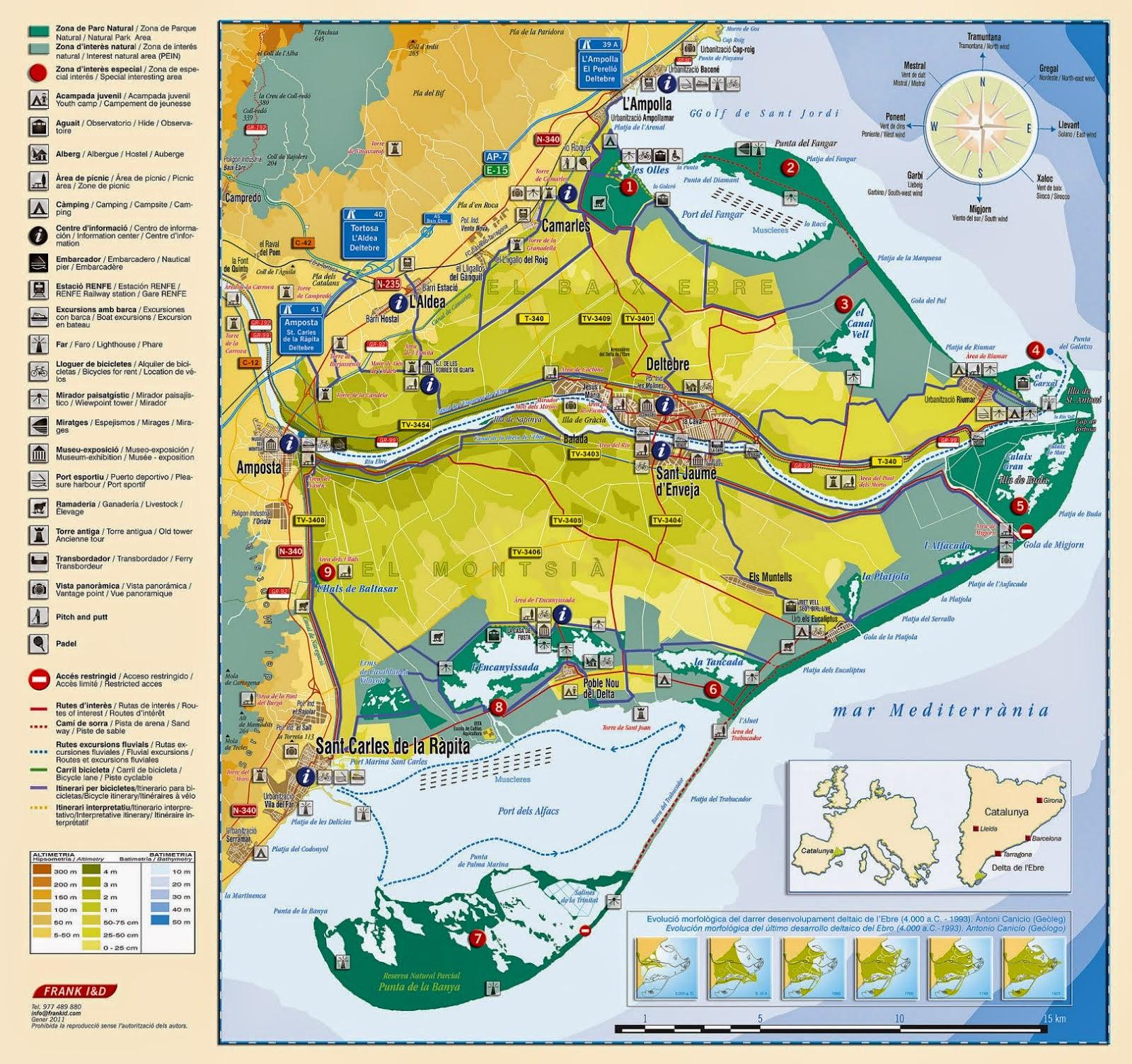 Mapa Delta de l'Ebre