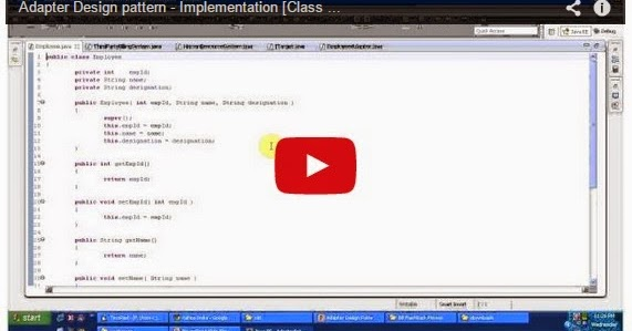 Java ee adapter pattern implementation class adapter for Pool design pattern java