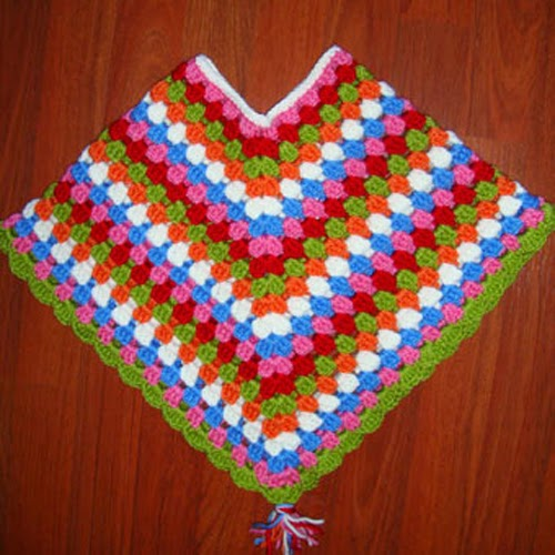 Crochet Poncho for Kids
