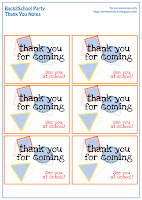 back to school party thank you notes