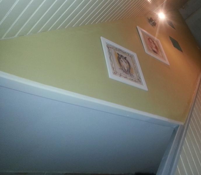 Repeindre escalier bois fonc vitrifi cours de - Peinture mural paillette ...