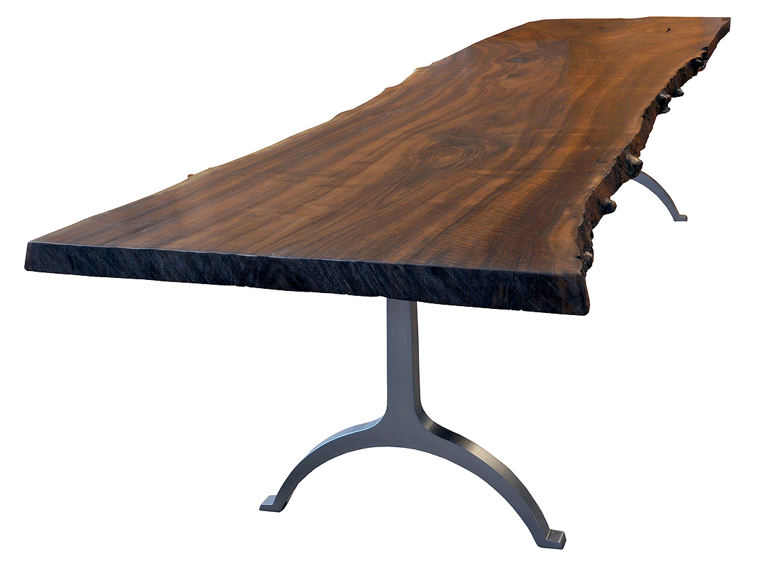 What Kind Of Steel Base Can I Have On My Slab Top Table?