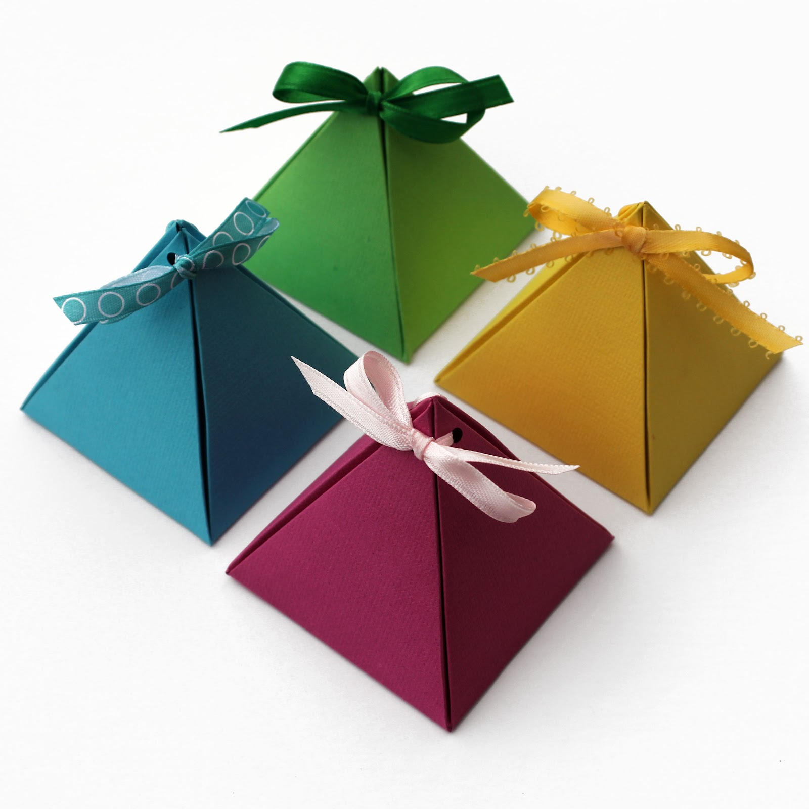 If You Like These Paper Pyramid Gift Boxes, Check Out This Collection Of 15  Free Paper Gift Box Templates For More Fun Ideas.