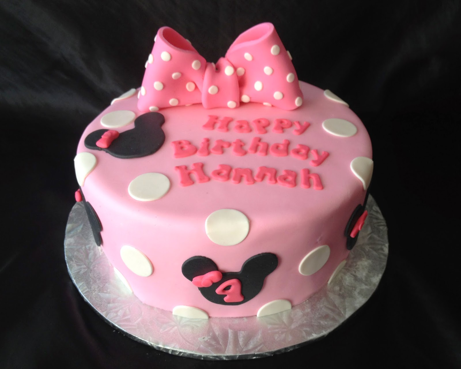 Minnie Mouse Birthday Cake for Hannah