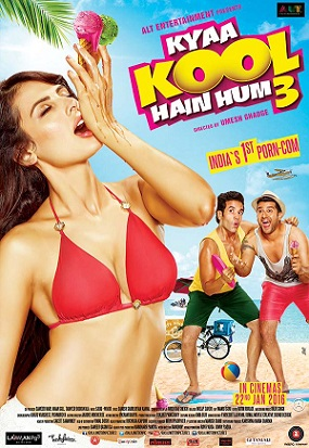 Poster Of Kya Kool Hain Hum 3 (2016) 480p Hindi DVDScr Full Movie