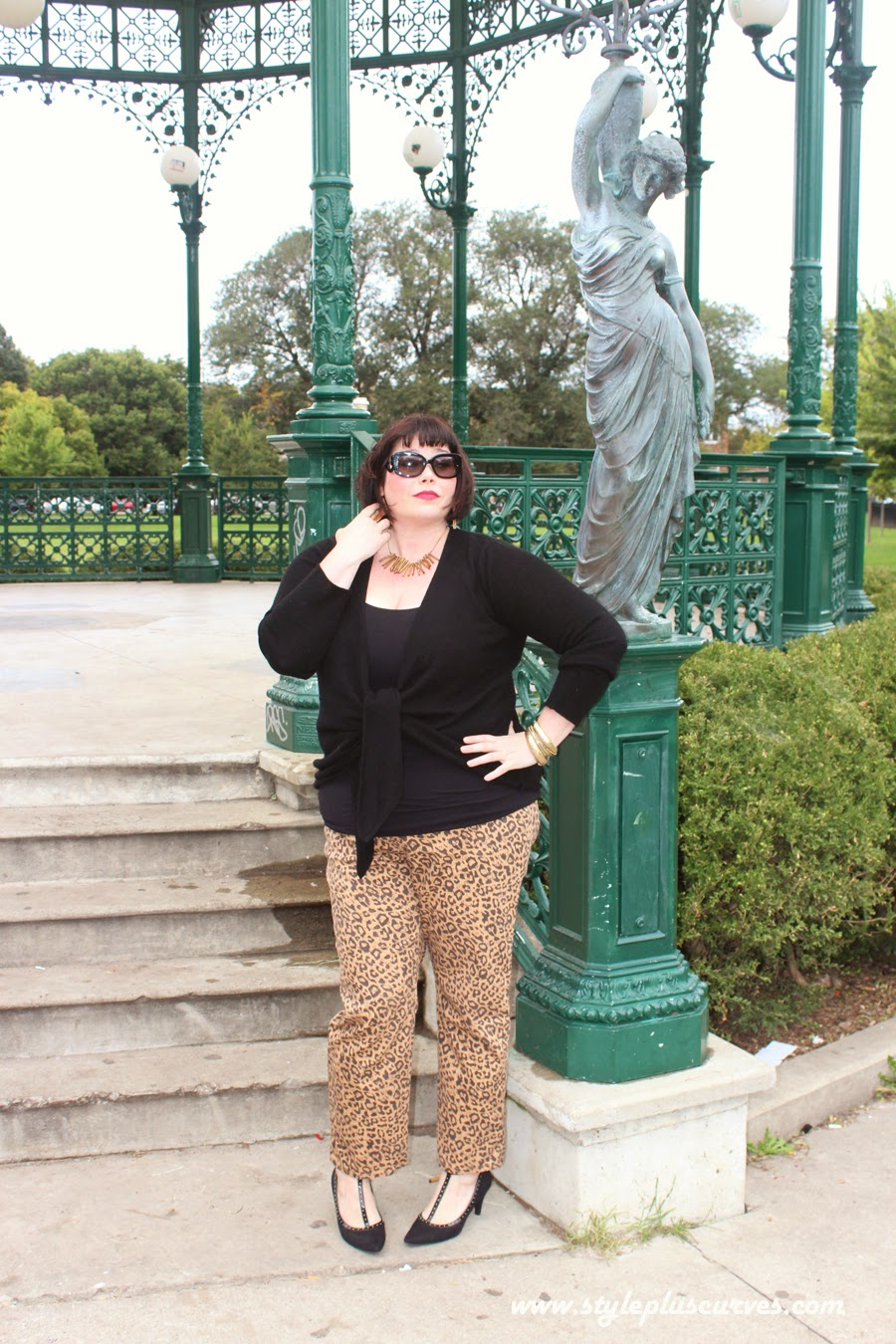 Amber from Style Plus Curves in Plussize Leopard Print Jeans from Jessica London