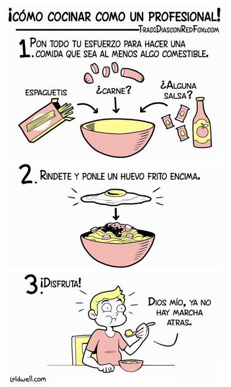 tres pasos para cocinar como un profesional