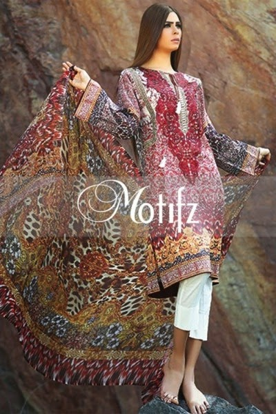 Latest Motifz New Summer Lawn 2015 Collection