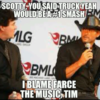 Farce the music tim mcgraw meme for Farcical satire