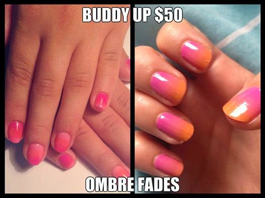 Buddy-Up-Special-shellac-polish-ombre-fades-on-the-natural-nails-neon-mix