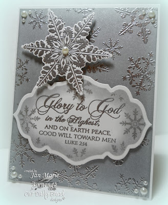 ODBD, Jan Marie Ennenga, Sparkling Snowflakes, Christmas Verses