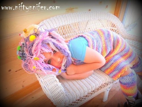 My Daughter asked for a ''Yarn Make Over''! She looks stunning in yarn!