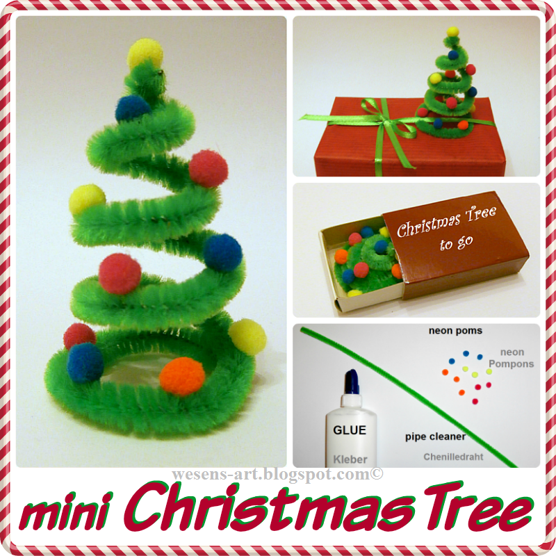 mini christmas tree mini weihnachtsbaum - Pipe Cleaner Christmas Tree