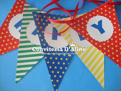 bandeirolas decoração festa sonic