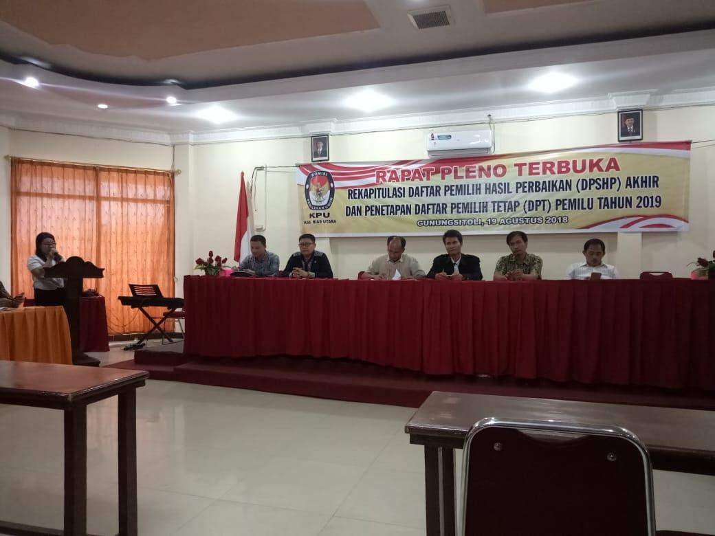 KPU Nias Utara Akhirnya Tetapkan DPT Pemilu 89.759