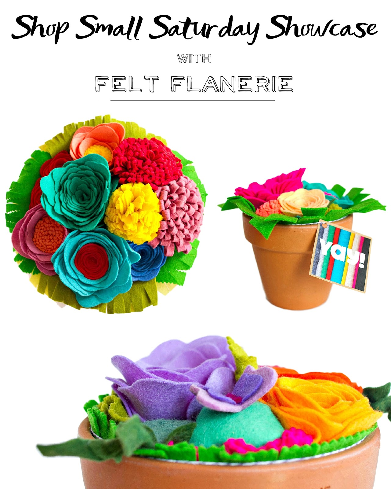 Felt Flanerie feature + GIVEAWAY and promo on Shop Small Saturday Showcase at Diane's Vintage Zest!  #shopsmall