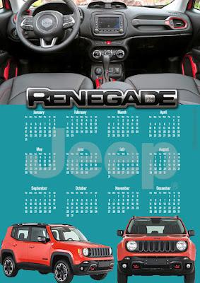 Calendário 2016 Jeep Renegade Morawski