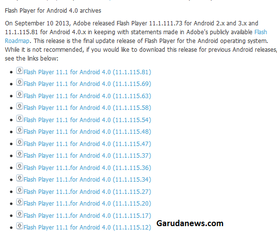 Archive flas player android