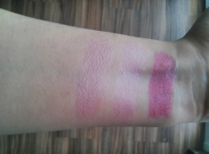 spring pink lipstick korres frosty pink fuchsia lr crystal rose swatches