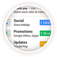 Social, Promoitons and Updates Category of Gmail Inbox