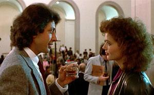 Jeff Goldblum y Geena Davis en La mosca