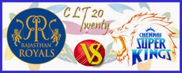 clt20 1st semi final match rajasthan vs chennai highlight match and full scorecards 2013