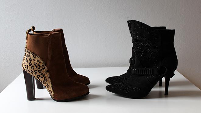 outfit trend fashionblogger newin schuhe boots humanic schwarz samedelmann leopard cognac