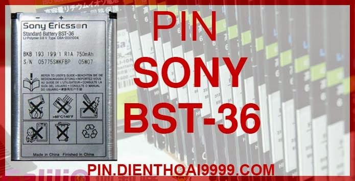 Pin bst36 cho đt Sony J300 Z310 K510 W200 | Pin bst 36 giá rẻ dung lượng cao chất lượng tốt | Pin SE bst36 Pin Sony Ericsson BST 36 - Pin Galilio dung lượng cao 1100mAh - Giá 140k - Pin tương thích với các loại điện thoại Sony Ericsson J300c/ Z558/ T258/ Z310/ K310/ K510/ Z320/ W200C/J300i - Bảo hành: 6 tháng   Thông số kĩ thuật: - Pin Sony BST-36 1100 mAh được thiết kế kiểu dáng và kích thước y như pin nguyên bản theo máy, Pin tiêu chuẩn, chất lượng như pin theo máy. - Kích thước: 4,8 x 4,0 x 0,4 cm - Dung lượng: 1100mAh - Điện thế: 3.7V - Công nghệ: Pin Li-ion Battery  Mô tả sản phẩm:  - Pin Galilio nhờ nghiên cứu và phát triển công nghệ lithium nên đã đạt được pin dung lượng cao nhất cho phép (từ 1,5- 2 lần) nhưng vẫn đảm bảo được chất lượng cao, đã vượt qua nhiều tiêu chuẩn chất lượng như ISO 9001, ISO 1400I, CERTIFICATED, hãng cũng ứng dụng Công Nghệ an toàn mà những hãng pin khác không có được: Controller IC, Control swithches, Temperature Fuse.. - Thiết kế kiểu dáng và kích thước y như pin nguyên bản theo máy, thuận tiện và dễ dàng thao tác, pin dung lượng cao cung cấp đủ nguồn điện cho máy sử dụng được trong thời gian dài, có thể mang đi bất cứ đâu để phòng khi pin của máy bạn hết mà không có điều kiện để sạc. - Cho phép bạn giữ các cuộc nói chuyện và bảo đảm cho bạn không bỏ lỡ các cuộc gọi điện thoại quan trọng - Pin sạc bằng cách gắn vào điện thoại và sạc như pin gốc - Sản phẩm đạt tiêu chuẩn tuyệt đối về an toàn cháy nổ - Bảo hành đổi pin mới trong 6 tháng.  GIAO HÀNG VÀ BẢO HÀNH TẬN NHÀ  Quý khách có nhu cầu mua pin,  hãy liên hệ với chúng tôi:  - Khu vực Ba Đình: 0904.691.851     - Khu vực Hà Đông: 01273.473.357  - Khu vực Từ Liêm: 0976.997.907