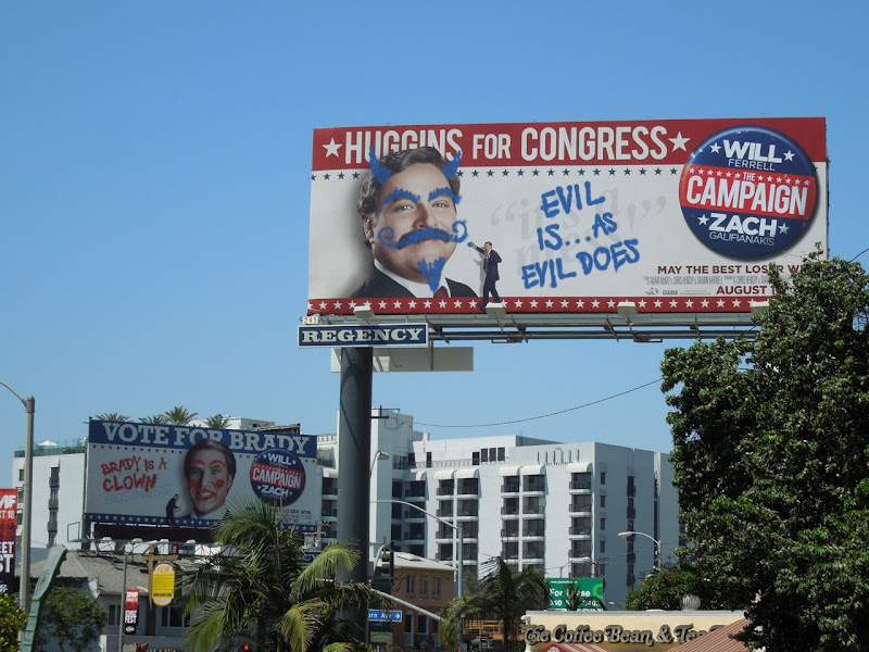 Campaign movie billboards Sunset Strip