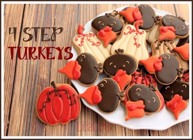 Sugar Cookie Turkey Tutorial