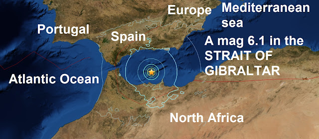 A mag 6.1 in the STRAIT OF GIBRALTAR is the 11th major quake of January 2016 Untitled