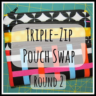 Triple-Zip Pouch Swap Round 2