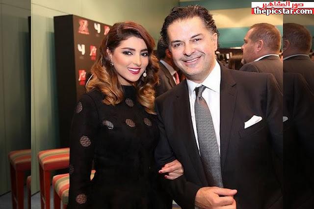 مريم سعيد مع المغني اللبناني راغب علامة