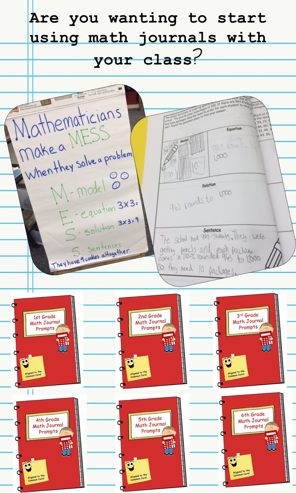 An Apple For The Teacher Math Journals