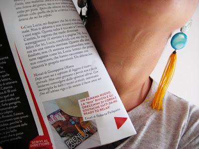 La rivista e gli orecchini di L'albero delle perline
