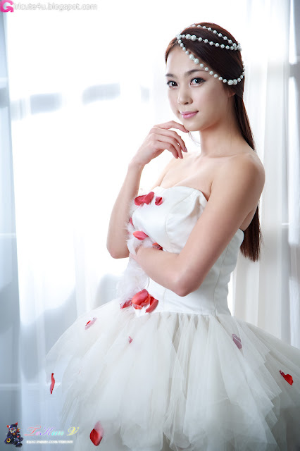 3 Ju Da Ha in Wedding Dress-very cute asian girl-girlcute4u.blogspot.com