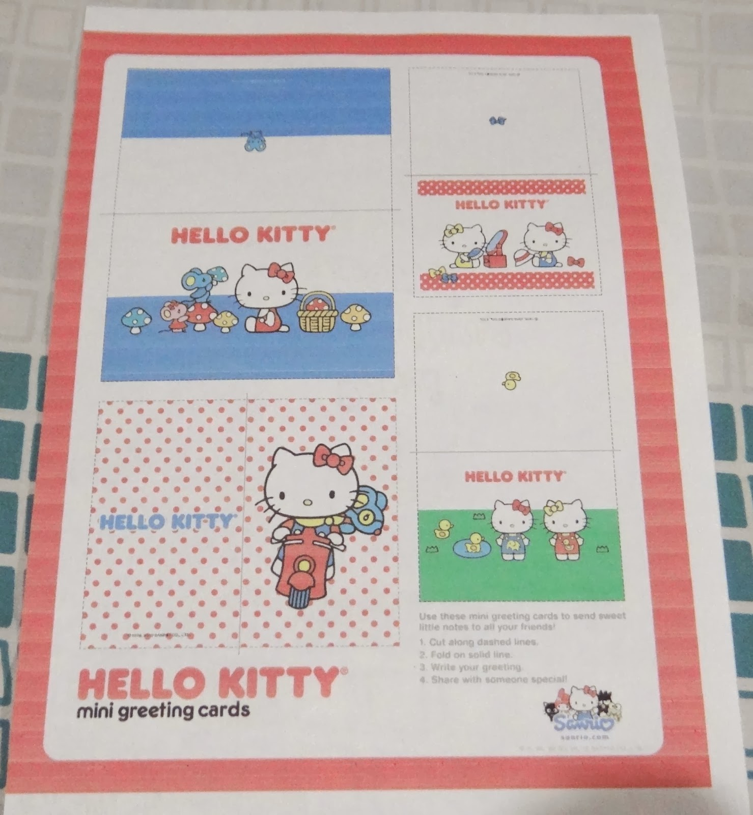 The pretty city girl indian lifestyle blog diy mini gift pack print a hello kitty mini greeting cards layout to get the layout visit sanrio 3 choose which layout you liked the most and cut on the dotted lines kristyandbryce Gallery