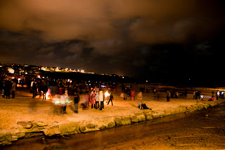 Porth beach firework display